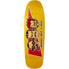 "Black Label Max Evans Manny, Moe, and Max Skateboard Deck - 9.63"" - Yellow"