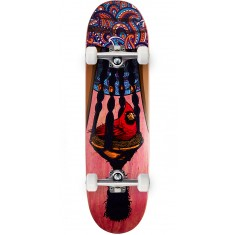 "Paisley Bird In A Bush Skateboard Complete - 8.50"" - Red"