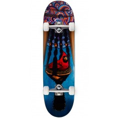 "Paisley Bird In A Bush Skateboard Complete - 8.50"" - Blue"