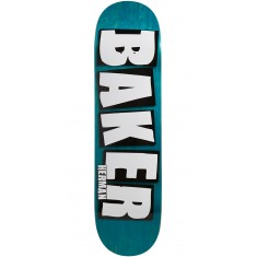 "Baker Herman Brand Name Veneer Skateboard Deck - 8.25"" - Teal"