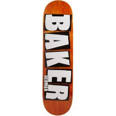 "Baker Herman Brand Name Veneer Skateboard Deck - 8.25"" - Orange"