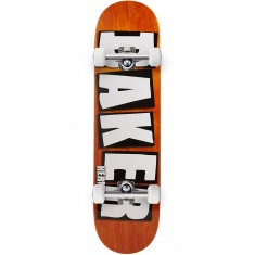 "Baker Herman Brand Name Veneer Skateboard Complete - 8.25"" - Orange"