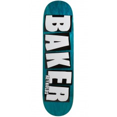 "Baker Reynolds Brand Name Veneer Skateboard Deck - 8.38"" - Teal"