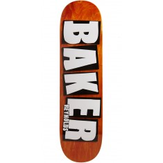 "Baker Reynolds Brand Name Veneer Skateboard Deck - 8.38"" - Orange"