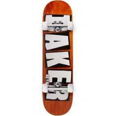 "Baker Reynolds Brand Name Veneer Skateboard Complete - 8.38"" - Orange"