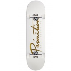"Primitive Nuevo Team Skateboard Complete - 8.50"" - White/Gold"