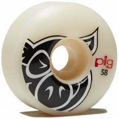 Pig Head Natural Skateboard Wheels - 58mm