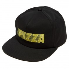 Pizza Speedy Hat - Black/Lemon