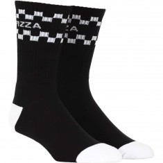 Pizza Logo Socks - Black