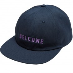 Welcome Academic Unstructured 6 Panel Snapback Hat - Navy/Lavender