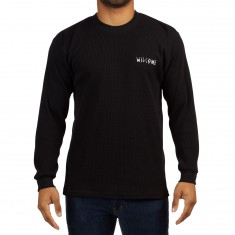 Welcome Scrawl Heavyweight Thermal Shirt - Black