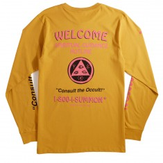 Welcome Hotline Long Sleeve T-Shirt - Mustard