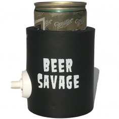 Beer Savage Patched Party Starter Coozie - Black