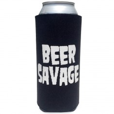 Beer Savage Stacked Tallboy Coozie - Black