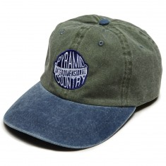 Pyramid Country Interdimensional 6 Panel Hat - Olive/Navy/White