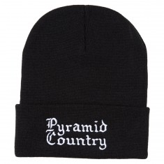 Pyramid Country Gothica Beanie - Black/White