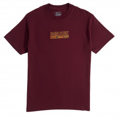 Passport International Embroidery T-Shirt - Burgundy