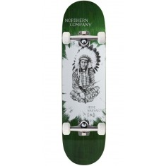 """Northern Co. Jesse Native Skateboard Complete - 8.25"""" - Green Stain"""