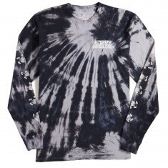 Happy Hour Dancing Pineapple Long Sleeve T-Shirt - Black Tie Dye