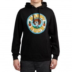 Happy Hour Skull And Roses Hoodie - Black