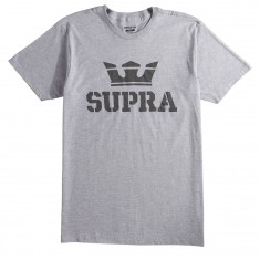 Surpa Above T-Shirt - Light Grey Heather/Black