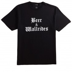 Beer And Wallrides Logo T-Shirt - Black