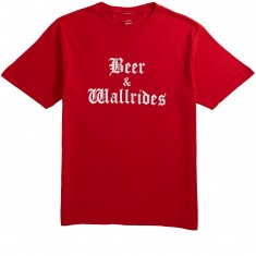 Beer And Wallrides Logo T-Shirt - Red