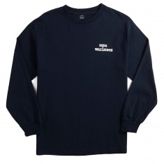 Beer And Wallrides Logo Long Sleeve T-Shirt - Navy
