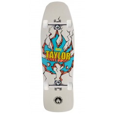"Black Label Auby Taylor Breakout Skateboard Complete - 9.50"" - White"