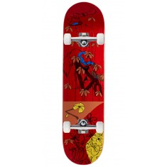 "Less Than Local Jupe Flowers Skateboard Complete - 8.00"" - Red Stain"
