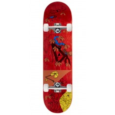 "Less Than Local Jupe Flowers Skateboard Complete - 8.25"" - Red Stain"