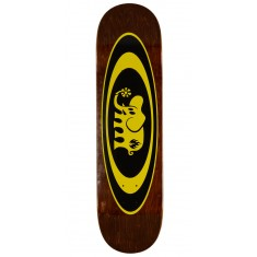 "Black Label Oval Elephant Skateboard Deck - 8.25"" - Brown Stain"