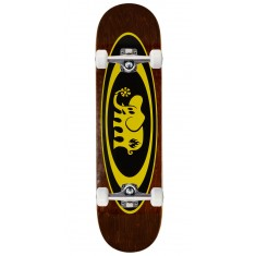 "Black Label Oval Elephant Skateboard Complete - 8.25"" - Brown Stain"