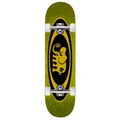 "Black Label Oval Elephant Skateboard Complete - 8.25"" - Green Stain"