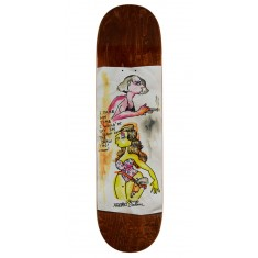 "Krooked Sandoval High Noon Skateboard Deck - 8.25"" - Brown Stain"