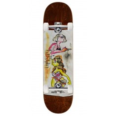 "Krooked Sandoval High Noon Skateboard Complete - 8.25"" - Brown Stain"