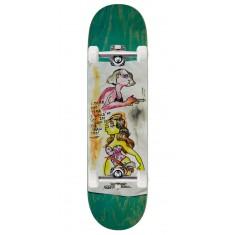 "Krooked Sandoval High Noon Skateboard Complete - 8.25"" - Green Stain"