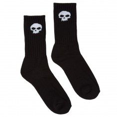Zero Skull Crew Socks - Black