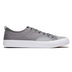 State Harlem Shoes - Mid Grey/White Canvas