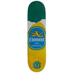 "Element You Are What You Eat Banana Skateboard Deck - 7.875"" - Green Stain"