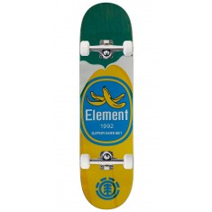 """Element You Are What You Eat Banana Skateboard Complete - 7.875"""" - Green Stain"""