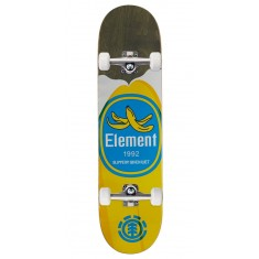 """Element You Are What You Eat Banana Skateboard Complete - 7.875"""" - Grey Stain"""
