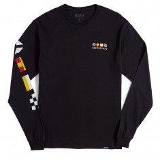Meridian Flagged Long Sleeve T-Shirt - Black