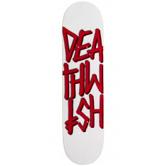 "Deathwish Deathstack Skateboard Deck - 7.75"" - White/Red"