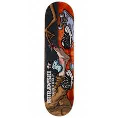 "Send Help Murawski Ouch Skateboard Deck - 8.00"" - Orange Stain"