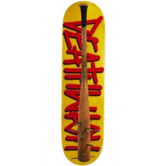"Deathwish Deathspray Spiked Bat Skateboard Deck - 8.125"" - Yellow Stain"