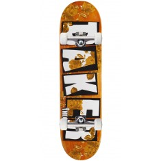 "Baker Theotis Brand Name Rose Gold Skateboard Complete - 8.25"" - Orange Stain"