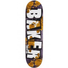 "Baker Theotis Brand Name Rose Gold Skateboard Deck - 8.25"" - Purple Stain"