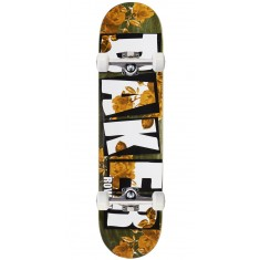 "Baker Rowan Brand Name Rose Gold Skateboard Complete - 7.75"" - Green Stain"