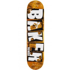 "Baker Rowan Brand Name Rose Gold Skateboard Deck - 7.75"" - Orange Stain"
